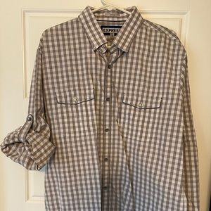 Express Men's, Casual Button Down Shirt